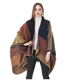 Nuova generosa sciarpa selvatica plaid autunno e inverno imitazione cachemire caldo spessore appeso forcella mantello collo scialle viaggio femminile da