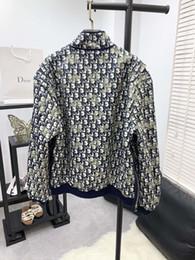оптовые женские куртки peplum Скидка куртка бренда женщин жаккард Colorblock отворот молнии с длинным рукавом куртки женщин топы пальто ветровка женская одежда 18-14