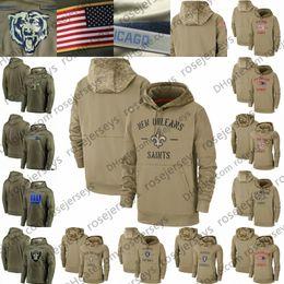 Camisolas do miúdo on-line-2020 Tan Camisola Salute to Serviço pulôver Khaki Hoodie New York Orleans Saints Patriot Oakland Giants Raider Olive Homens Mulheres Criança Juventude