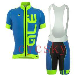 Camisetas fluorescentes online-ALE pro team ciclismo jersey bicicleta babero corto conjunto MTB Ropa Ciclismo Fluorescente color ciclismo WEAR hombre Maillot Culott