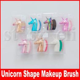 Chiodi viso online-Pennello multiuso per fondotinta a forma di unicorno Blush Pro Pennello per trucco a polvere Pennelli kabuki Viso per unghie Pennello per trucco Cosmetico per la bellezza