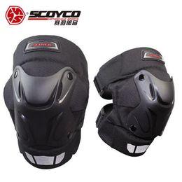 Защитная оболочка онлайн-Scoyco Мотоцикл Защитный Racing Shell Наколенники Gear Off Road Мотокросс Защитный протектор Motocicleta Колено Защитный