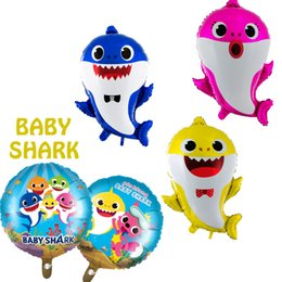 2019 acryl urlaub baum Baby Shark Ballon Helium Folienballon Baby Cartoon Thema Geburtstag Party Decor Supplies Ballon Spielzeug für Kinder Spielzeug LJJK1708