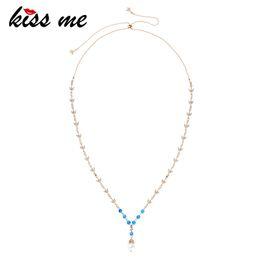 nachahmung kostüm schmuck Rabatt Großhandel Frauen Nachahmung Perlenkette Elegante Mode Acryl Perlen Kristall Halsketten Anhänger Modeschmuck