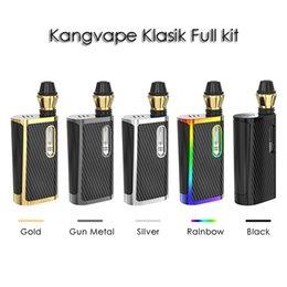 2019 mod de poche Kangvape Klasik Boîte Mod Kit E Kit De Cigarette Pour Épaisse Huile 650mAh VV Batterie 4 Réglages De Tension 0.5ml Kit De Vape De Poche mod de poche pas cher
