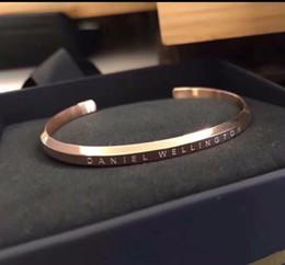 100% acero inoxidable DW brazaletes de puño de lujo de diseño de oro rosa pulseras brazaletes para mujeres hombres Pulsera regalo con caja desde fabricantes