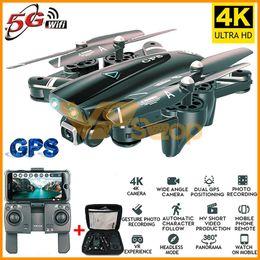 2019 drones wifi 2019 S167 GPS Folding Quadrotor RC Drones 4K HD Camera 5G WiFi FPV 1080P RC helicóptero com câmera 4 Channel RC Aircraft desconto drones wifi