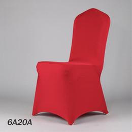 copertine rosse in lycra Sconti 100PCS 50Color Wedding Chair panno rosso banchetto Lycra copertura della sedia ristorante sede di nozze copertura dal produttore 20170629 #