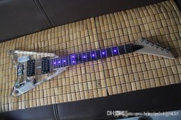 led-beleuchtung e-gitarre Rabatt Freies Verschiffen 2014 beleuchtet transparente Acrylplexiglas LED des neuen E-Basses blaue Lichtgitarre