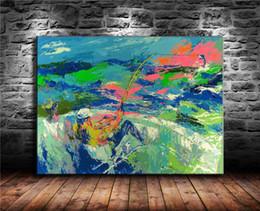 pintura de peixes sala de estar Desconto Pesca, Pintura em tela Sala de estar Decoração de casa Modern Mural Art Oil Painting