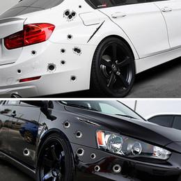 auto bullet löcher Rabatt 3D Einschussloch Auto Aufkleber lustige Aufkleber Kratzer realistische Einschussloch wasserdichte Aufkleber Auto Außen Styling HHA116
