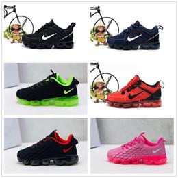 2020 zapatos de punto para niños nike air max airmax vapormax Corredor de la muchacha de los niños de los zapatos ocasionales muchachos de las muchachas zapatilla de deporte de punto KPU cojín zapatos de los niños rebajas zapatos de punto para niños
