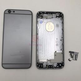 2019 iphone 6s logement de remplacement Boîtier d'origine 6g 6s pour iPhone 6G 6S, couvercle de la batterie arrière, porte arrière, boîtier central, châssis, noir, réparation de remplacement promotion iphone 6s logement de remplacement