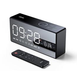 Видео с использованием смарт-карт онлайн-DiDo X9 Mini Card Mirror FM Audio Charging Radio Call Alarm Set пульт дистанционного управления смарт-динамик портативное аудио и видео оборудование