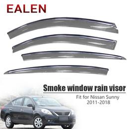 2019 mitsubishi gear EALEN Pour Nissan Sunny N17 2011 2012 2013 2014 2015 2016 2017 2018 Déflecteurs Accessoires 4Pcs / 1Set Pare-pluie pour fenêtre de fumée