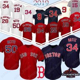 50 Mookie Betts Boston Red Baseball Jersey Sox 34 19 Jackie Bradley Jr. 28 JD Martinez 9 Ted Williams 16 Andrew Benintendi maglie da