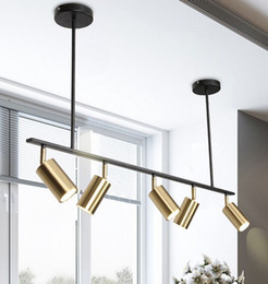 abat-jour en or Promotion Plaqué or Abat Spot LED Lampe suspension design moderne suspendu tache pour Dinning Gold Room suspension métallique MYY Luminaire