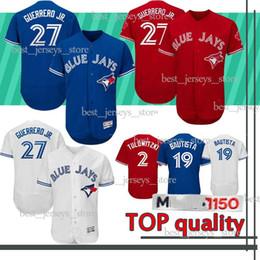b05016ba6 Toronto jerseys Blue Jays 27 Vladimir Guerrero Jr. Baseball Jersey 11 Kevin  Pillar 6 Marcus Stroman 12 Alomar 2019 new Best selling Jersey