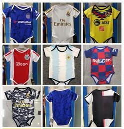 camisas de futebol de bebês Desconto 2019 2020 Nova bebê camisa América por BB 6-18 mês ajax JAMES ICARDI COUTINHO ISCO de Futebol Pogba camisas de futebol criança