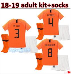 Yetişkin kiti 2019 yeni Hollanda futbol forması 19/20 ev turuncu hollanda HOLLAND ROBBEN SNEIJDER V.Persie away futbol formaları çorap cheap holland soccer jerseys nereden hollanda futbol formaları tedarikçiler
