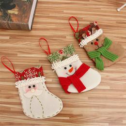 Medias de navidad online-Media de la Navidad Decoración de Chrismas del calcetín para los titulares Árbol de navidad casero ornamentos del regalo Medias regalos de Año Nuevo Bolsa Navidad