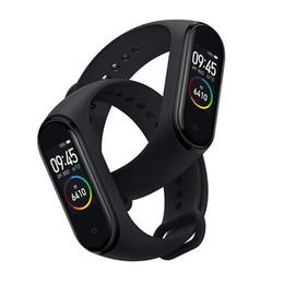 2019 compteur de sang oxygène au poignet M4 Smart Band Fitness Tracker Montre Sport bracelet Fréquence Cardiaque Montre Intelligente Fitbit 0,96 pouce Smartband Moniteur Santé Bracelet