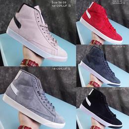 2019 mediados de corte zapatos para correr 2019Y Nuevo Sb Zoom Blazers para hombre Hombres de las mujeres de Mid Decom Zapatos corrientes Moda Cuero de corte alto Zapatillas de deporte de diseño Zapatos cómodos ocasionales 36-44 mediados de corte zapatos para correr baratos