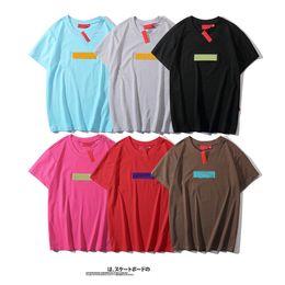 Tiendas de camisas online-19ss hombres de la camiseta Diseñador de lujo SUPRE Fashion Trend logo Nombre de la tienda marca de fábrica de la camiseta de calidad superior clásico mujeres bordado camisas