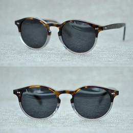 2020 oliver völker sonnenbrille Neueste Oliver Peoples Mode Runde Sonnenbrille Frauen-Marken-Designer-Weinlese-Gradient Shades Sonnenbrillen Oculos De Sol Feminino günstig oliver völker sonnenbrille