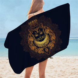 Toalha dourada on-line-75cmx150cm toalha preta Golden Shower toalha de banho Mandala Elephant microfibra Toalha de Praia Animal Flower Luxo