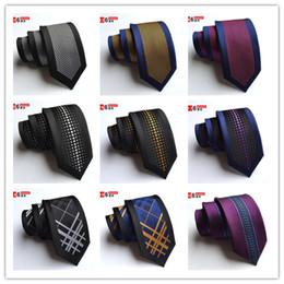 gravata de seda de 6 cm Desconto Conjunto de gravata para Homens Série Xadrez Clássico De Seda Hanky Abotoaduras Jacquard Tecido padrão Decorativo Atacado Gravata de Posicionamento flor Tie Set 6 CM