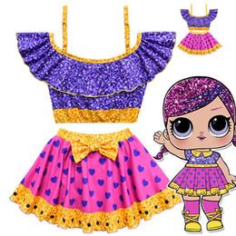 Canada Lol Dolls cartoon imprimé enfants filles maillots de bain deux pièces bikinis vêtements d'été 2019 vente chaude 0901996 Offre