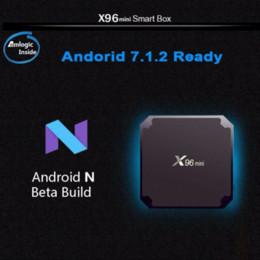 android-tv-top-box Rabatt X96 Mini-TV-Box Android 7.1.2 2 GB 16 GB andriod TV-Box Amlogic S905W Quad Core Suppot H.265 UHD 4K WiFi X96mini Set-Top-Box