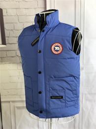 Argentina Envío rápido Canadá Marca chaqueta de invierno Para Hombre FreeStyle Chaleco Goose Down Chaleco Chaleco Abajo Abajo chaqueta 7 color Suministro