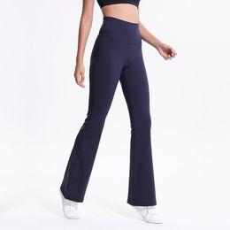 e4c272de1538d high waist fitness shorts plus size 2019 - Women s Navy Blue Tall Boot Cut Pants  High