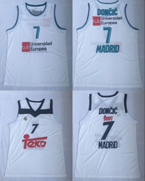 champions sports Promo Codes - 2018 TOP 77 Doncic Stitched jerseys Sport Jersey CITY SWINGMAN new SHIRTS TOP Luka #7 Slovenija Real Madrid Euroleague Champion tops 2019