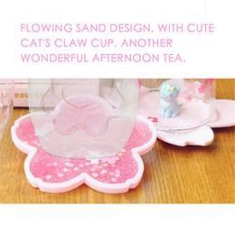tazza di fiori Sconti 2019 Nuovo Cherry Blossom Thermal Insulation Cup con Cherry Blossom Tree Table Cushion Hot Sale Drop Shipping