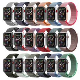 Banda de relógio de nylon on-line-Esporte laço pulseira para apple watch band correa iwatch 4 3 2 1 iwatch banda 42mm 38mm 44mm 40mm pulseira de pulso tecido de nylon