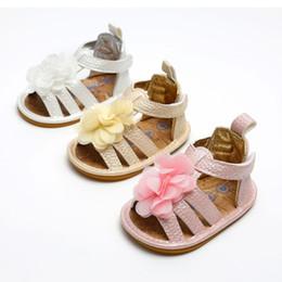 ragazza di sandalo anno Sconti sandali bambino 0-1 anni fiore bambino sandali firmati di lusso infantili scarpe basse piatte per bambini appena nati