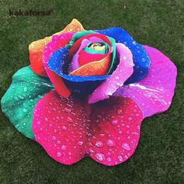 couvertures de bonbons classiques Promotion 2019 Nouvelle Rose Plage Cover Up Round Sarong Wrap Robe De Bain Fleur Pareos Bikinis Cover Ups Été Automne Plage Tapis