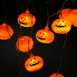 luci della stringa della zucca di halloween Sconti Halloween Pumpkin Lamp 3M 20LED luce della stringa di Garland Box batteria del dispositivo Capodanno Decorazioni di Natale per Halloween casa natale