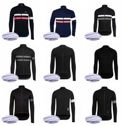 Invierno de la chaqueta de ciclismo online-Equipo Rapha 2019 camiseta de ciclismo top Chaqueta Winter Thermal Fleece wear bicicleta Ropa de bicicleta 60921