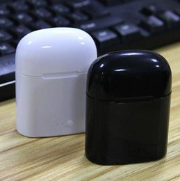 Mini mic online-Auriculares Bluetooth I7 I7S TWS Gemelos Auriculares Mini Auriculares inalámbricos Auriculares con micrófono estéreo V5.0 para teléfono Android con paquete minorista