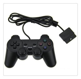 playstation wireless controllers wholesale Coupons - For Game Console Playstation 2 Wired Controller Para for PS2 Joystick Gamepad For Black High Quality