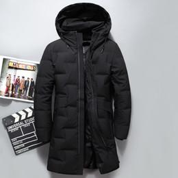 2019 Winter Daunenjacke Männer Mantel mit Kapuze lange weiße Ente unten Parka Eindickung Warm Outwear Wellensteyn Winterjacke Mann # P04
