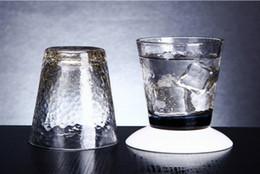 Handmade all'ingrosso creativo oro brillare colorato tazza di vetro Leed cristallo libero di vetro del vino per la casa e partito da