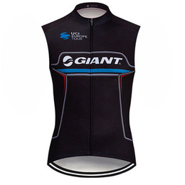 sleeveless women cycling jersey Promo Codes - GIANT Cycling sleeveless jersey Ropa Ciclismo Cycling clothing Bicycle vest tops summer mens Mountain Bike clothes F60453