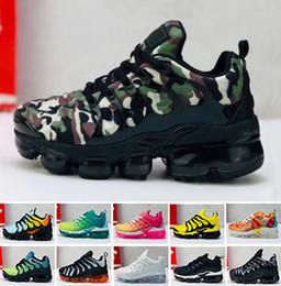 sapatas running das meninas Desconto Marca crianças vapores sneakers para o miúdo grande plus tn formadores little boys running shoes criança meninas esportes sapato crianças esporte adolescente menino menina