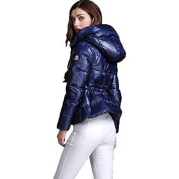2019 grüne parka mantel weiße pelz kapuze ENGAYI Marke Damen Parkas Winter Snow Duck Coat hick Down Weibliche Jacke S1127