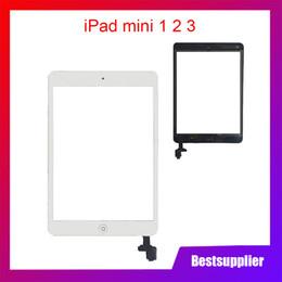Para ipad mini 1/2 mini 3 mini 1 2 3 Panel táctil Pantalla de cristal Digitalizador Pegamento adhesivo Reemplazo con IC Conector desde fabricantes